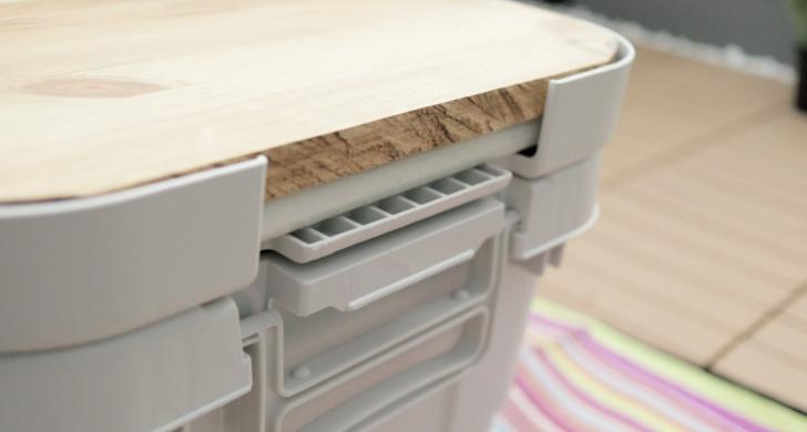 天板が厚すぎるオリジナルアウトドアテーブル